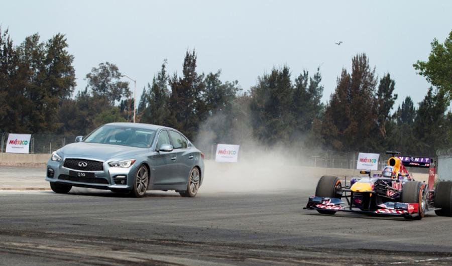 Ricciardo prueba la pista del GP de México