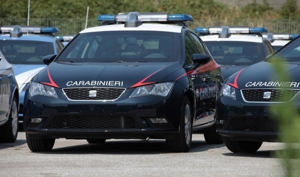 Seat León, auto de la policía italiana