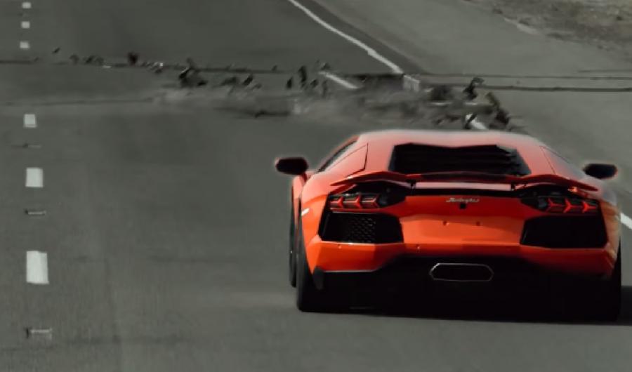 Video: Lamborghini Aventador vs Terremoto