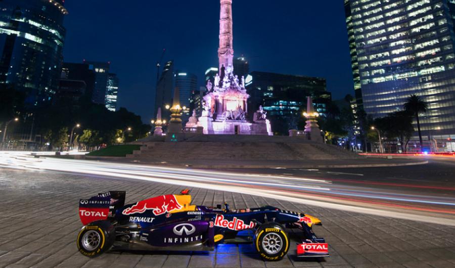 Los detalles del Red Bull en el Zócalo