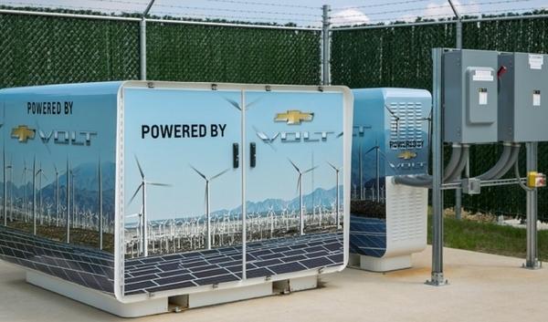 GM alimenta edificio con baterías del Volt