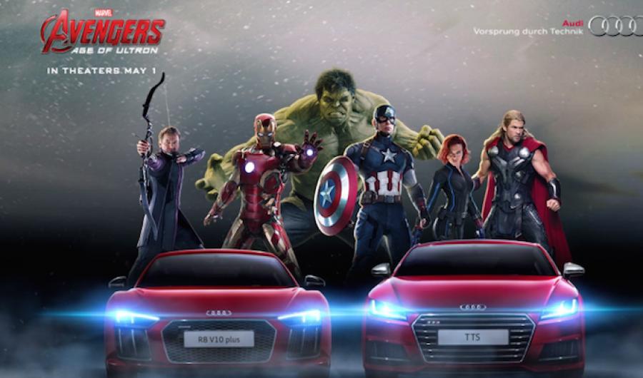 Audi regresa como el vehículo elegido por Tony Stark en Avengers: Age of Ultron