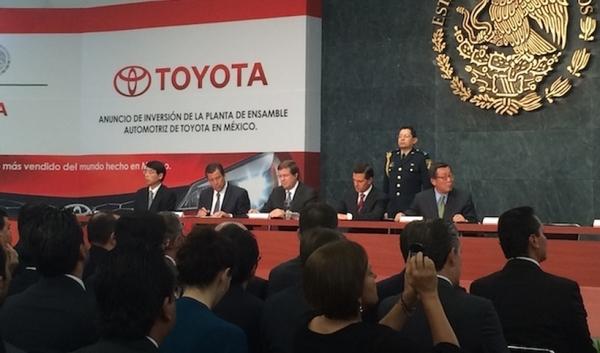Toyota construirá una planta de 1,000 mdd en Guanajuato, México.