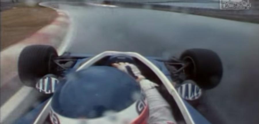 Patrick Depailler en la lluvia de la F1 de Montreal del '78