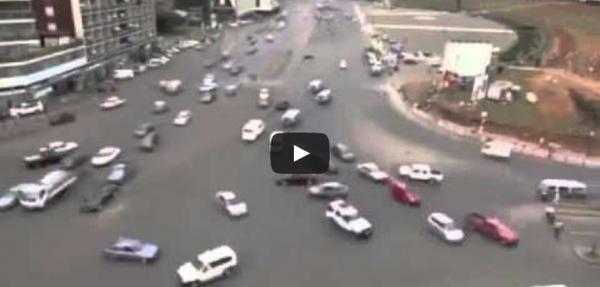 Sorprendente video del tráfico en  Etiopia
