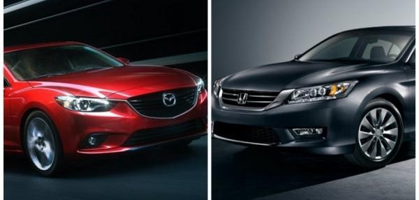 Mazda 6 i GRAND TOURING Plus  vs  Honda Accord Sedan EXL V6 NAVI