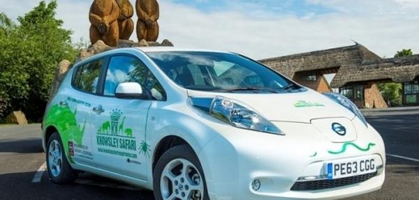Nissan LEAF se va a trabajar a un Safari