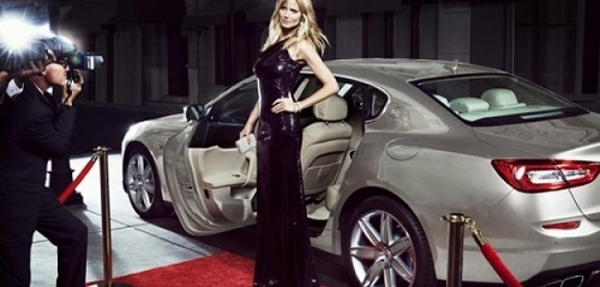 FOTOS: Heidi Klum posa para Maserati