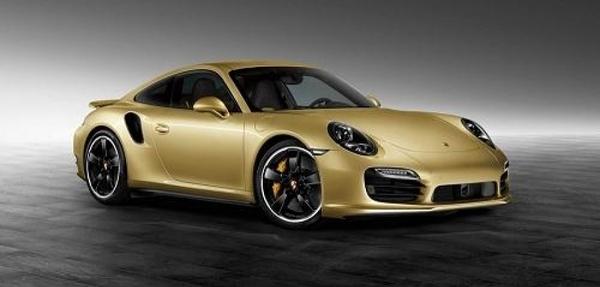 Porsche 911 Turbo Gold
