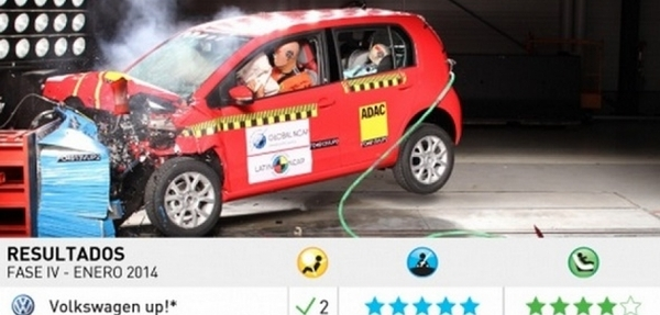 """VW up! pasa a integrar el club de los autos """"cinco estrellas"""" en seguridad de adultos"""