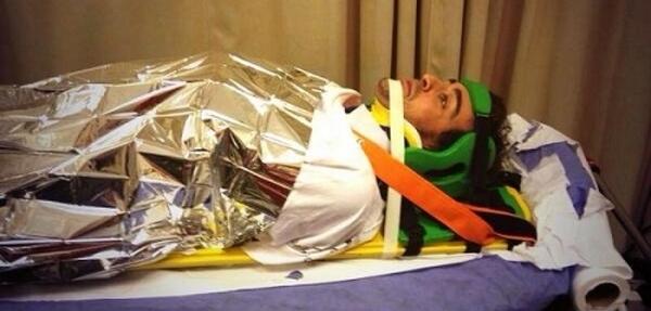 Alonso terminó el fin de semana en el hospital
