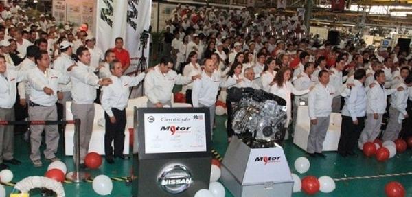 Nissan Mexicana produce su motor 9 millones en la planta de Aguascalientes