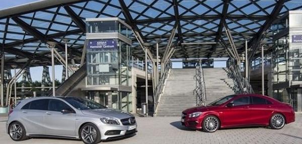 Mercedes muestra su clase A y CLA AMG con el motor de 4 cilindros más potente