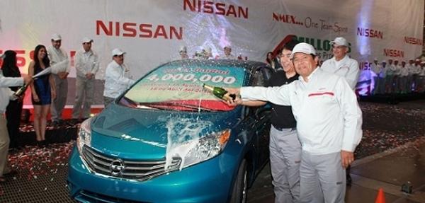 Celebra Nissan la producción de su unidad cuatro millones en la planta de Ags, México
