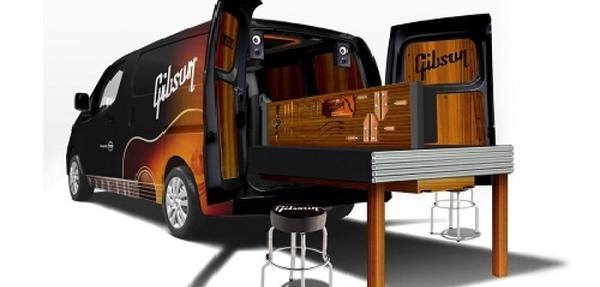 Nissan y Gibson  crean un taller móvil para guitarras dentro de una NV200