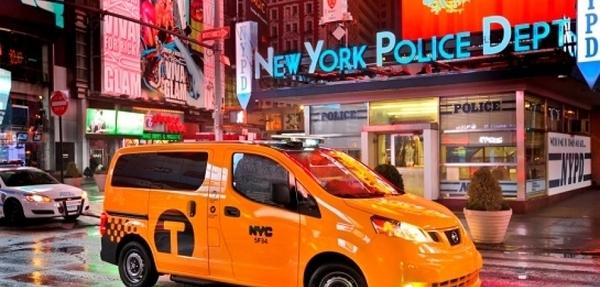 El Taxi de Nueva York toma las calles de Manhattan