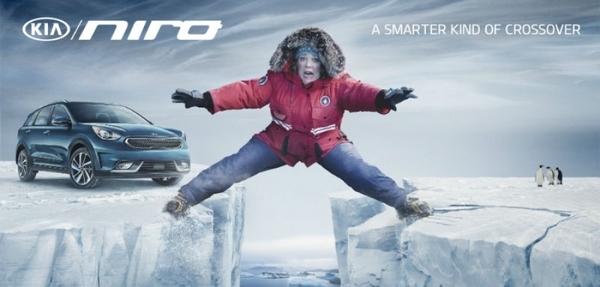 Melissa McCarthy y el Kia Niro juntos en el Super Bowl