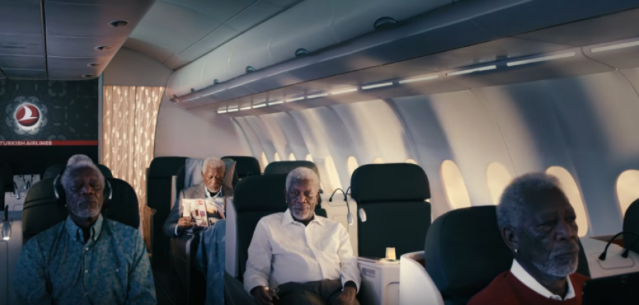 Exitazo de Turkish Airlines y Morgan Freeman