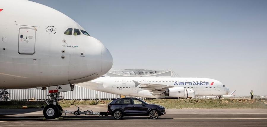 Porsche y Air France establecen nuevo récord Guinness.