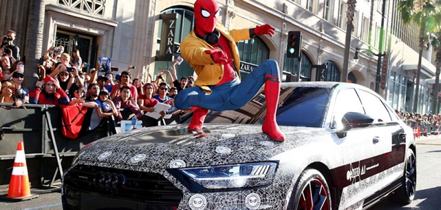 El nuevo Audi A8 impacta en la Premiere Mundial de 'Spider-Man: Homecoming