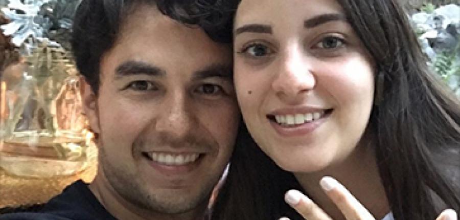 Se casa Checo Pérez con su novia Carola Martínez
