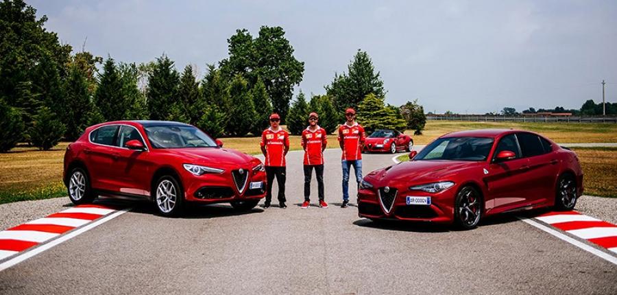 Vídeo: Los pilotos de la Escudería Ferrari llevan al límite al nuevo Alfa Romeo Giulia
