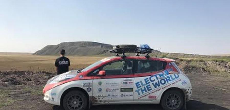 Nissan LEAF AT-EV primer vehículo eléctrico en completar el Rally de Mongolia