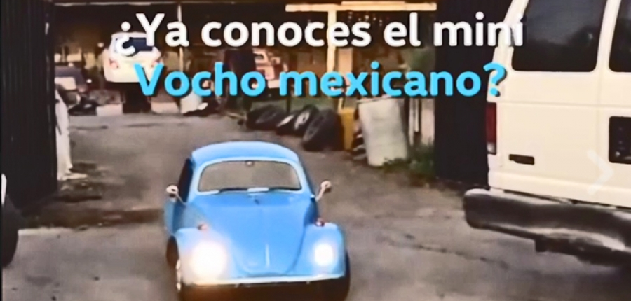 Ya conoces el ¡Mini Vocho! Una pieza única 100% mexicana
