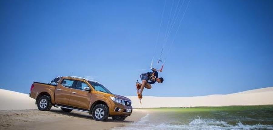 Mira como Nissan NP300 Frontier se convirtió en vehículo oficial de kitesurf