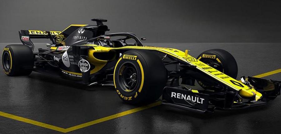 Renault da a conocer su monoplaza RS18 para la F1 de este año