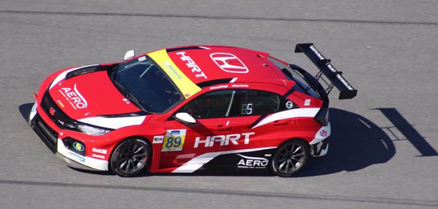 Honda Civic Type R TCR toma la pista de Daytona International Speedway
