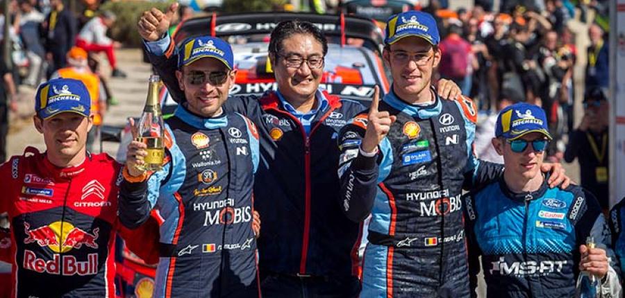 Primera victoria para Hyundai Motorsport en el rally de Córcega