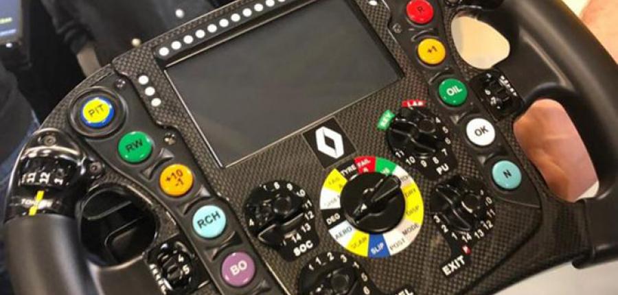 Renault nos comparte: ¿Cómo funciona el volante de un monoplaza?