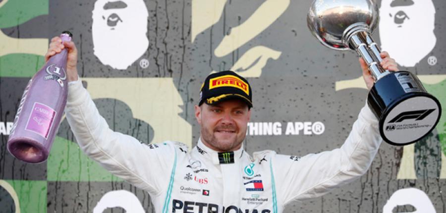 Bottas derrota a los Ferrari y gana en Japón