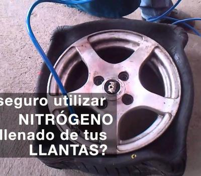 ¿Debes confiar al llenar tus llantas con nitrógeno?