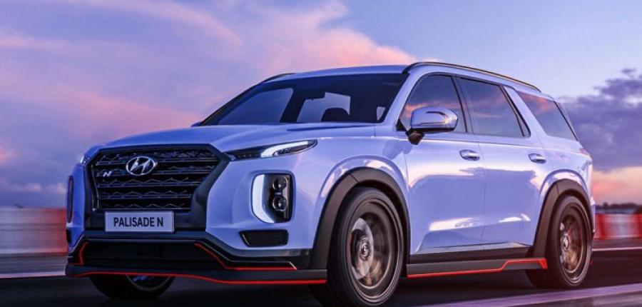 Hyundai coquetea con el futuro y presenta un PALISADE N HERMANADO CON EL Veloster