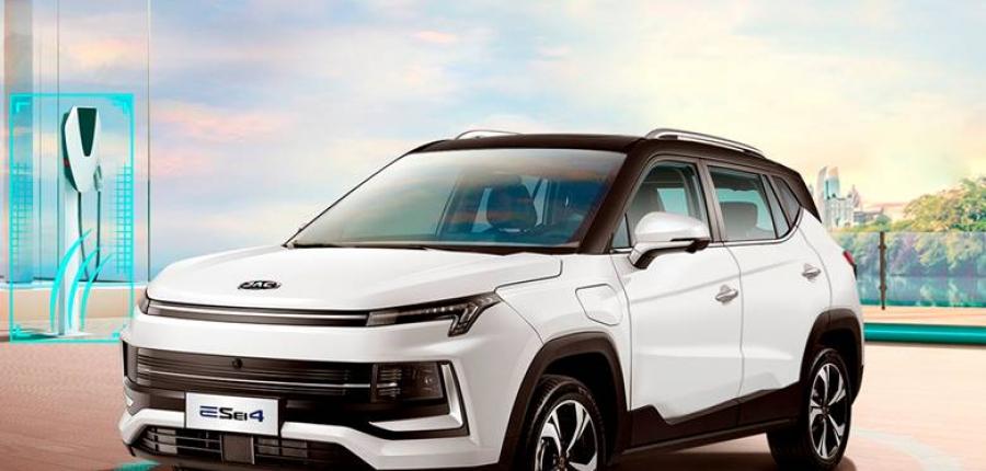 JAC E Sei4  el primer vehículo de la marca con funciones de conducción autónomas de nivel 2+