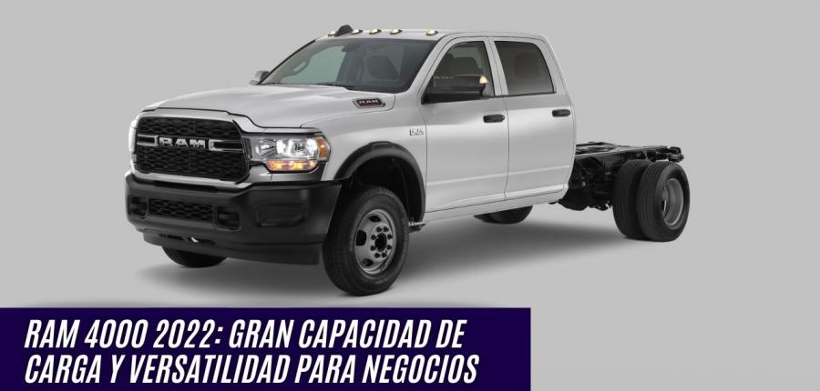 RAM 4000 2022 LLEGA AL MERCADO MEXICANO
